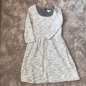 Maison Jules Dress - grey w Golden threads